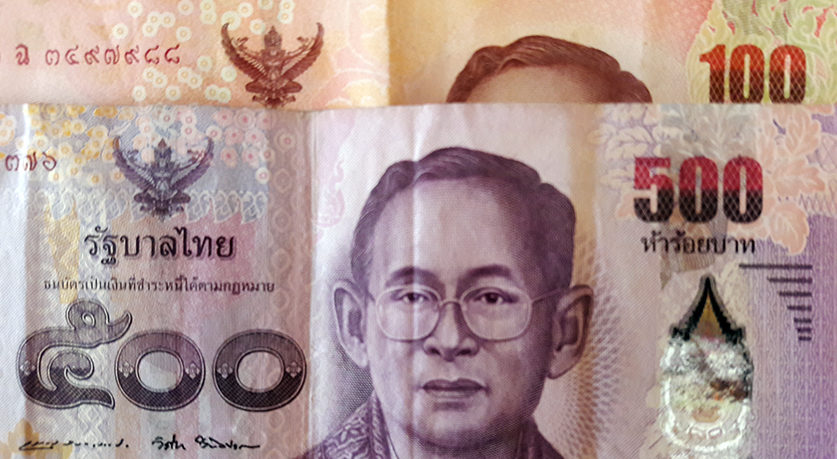 pieniądze tajlandia